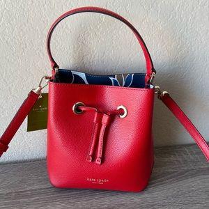 NWT Kate Spade Eva Breezy Floral Small Bucket Bag